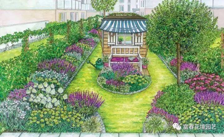 校园花境设计平面图